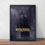 Poster Dosarele Dresden #1 cu rama neagra, lângă perete